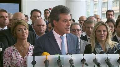 Beto Richa anuncia que vai deixar o governo do Paraná para concorrer ao Senado - Ele fez o anúncio nesta segunda-feira, 26.