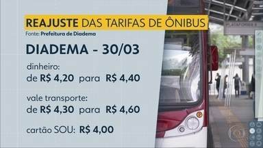 Tarifas de ônibus de 3 cidades do ABC aumentam nesta sexta (30/3) - Reajuste acontece durante o feriado prolongado.