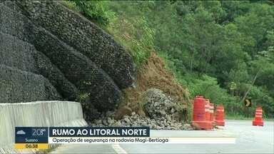 Polícia Rodoviária faz operação de segurança na Mogi-Bertioga - Foram sete quedas de barreira na estrada do começo do ano até o início do feriado de Páscoa
