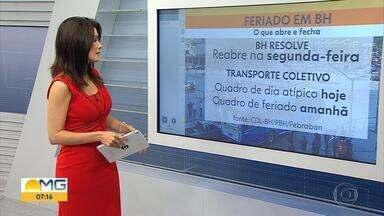 Veja o que abre e o que fecha durante o feriado da Semana Santa em Belo Horizonte - Diversos serviços tiveram o funcionamento alterado.