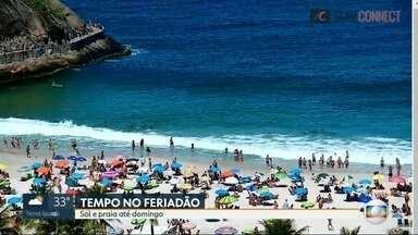 Feriadão será de sol e praia - Até domingo, previsão é de calor e águas calmas.