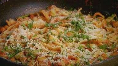 Prato Feito: Kassab traz combinação de grão de bico com molho de tomate - Nessa semana as receitas têm como base o macarrão.