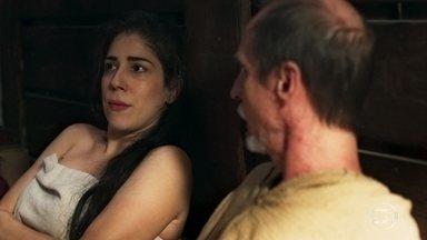 Matilda acorda ao lado de Olegario - Eles discutem a relação