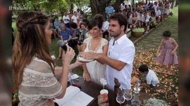 Ana Maria mostra imagens do casamento celta de seu filho Pedro José - Cerimônia foi realizada em 2011 e foi marcada pela conexão com a natureza