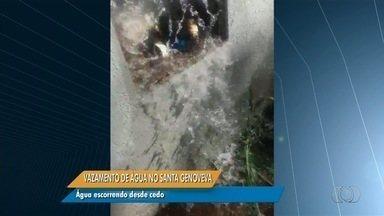 Anhanguera Notícias: Vazamento provoca desperdício de água no setor Santa Genoveva - Moradores dizem que até agora ninguém apareceu para arrumar o problema.