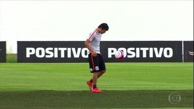 Corinthians treina para a segunda partida da final do Paulistão - Corinthians treina para a segunda partida da final do Paulistão
