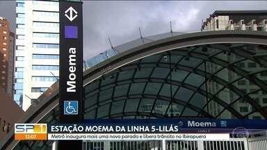 Metrô inaugura mais uma nova parada e libera trânsito no Ibirapuera - Governo vai contratar nova empresa para continuar as oras da Linha 6-Laranja.
