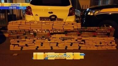 Trio é preso ao fazer transporte de maconha em Campos Novos - Trio é preso ao fazer transporte de maconha em Campos Novos