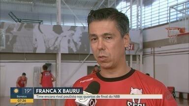 Franca enfrenta o Bauru nas quartas de final do NBB - Técnico Helinho comenta a preparação do time para a partida.
