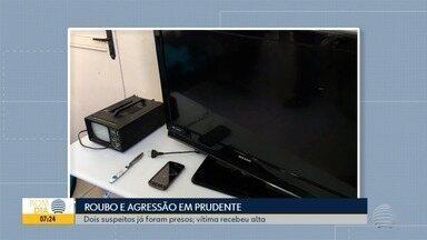 Vítima de facadas em assalto recebe alta do HR - Crime foi em uma casa, no Centro de Presidente Prudente.