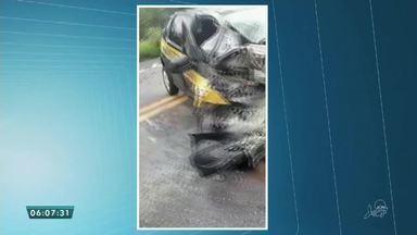 Duas pessoas morreram e outras duas feridas em acidente na BR-222, em Freicheirinha - Saiba mais em g1.com.br/ce