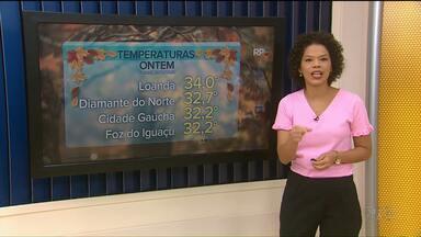 Noroeste registra as maiores temperaturas no Paraná - Em Loanda chegou a marcar 34ºC.