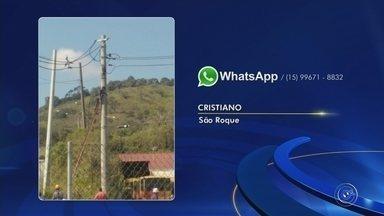 Trabalhador fica ferido após sofrer descarga elétrica durante manutenção em poste - Um homem ficou ferido após sofrer uma descarga elétrica enquanto trabalhava na manutenção em um poste na manhã desta quarta-feira (11), no bairro São Rafael, em São Roque (SP). Ele foi encaminhado à Santa Casa da cidade.