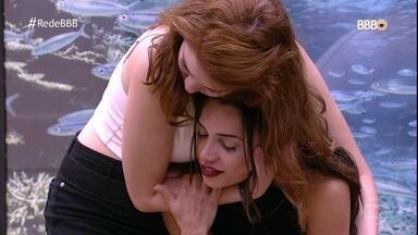 Paula sente saída de Jéssica e Ana Clara consola a mineira - Kaysar comemora permanência na casa