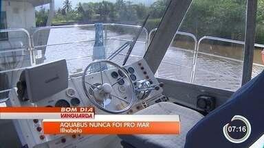 Ônibus aquáticos comprados por R$ 4,5 milhões estão abandonados em Ilhabela - O Aquabus nunca foi utilizado e está sendo guardado em uma marina de Caraguatatuba, com aluguel de R$ 21 mil mensais.