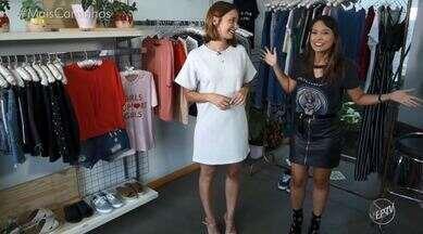 """Cris Ikeda traz dicas de moda usando a camiseta - No quadro 'Tá na Moda', Cris Ikeda ensina como montar diversos looks usando uma peça que todas as mulheres tem no armário: as camisetas """"t-shirts""""."""