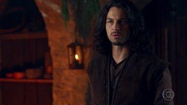 Afonso decide partir para não prejudicar os sogros - Ele comunica a decisão para os dois