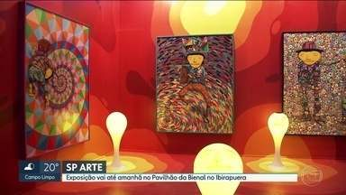 SP Arte vai até este domingo (15) no Pavilhão da Bienal, no Parque Ibirapuera - Mais de duas mil obras de artistas brasileiros e estrangeiros estão expostas no local.