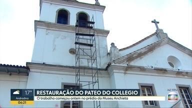 Pichadores do Pateo do Collegio são multados em R$ 10 mil cada um - Mutirão de limpeza começou nesta segunda-feira.