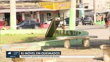 RJ Móvel em Queimados - Moradores pedem revitalização da Praça da Bíblia