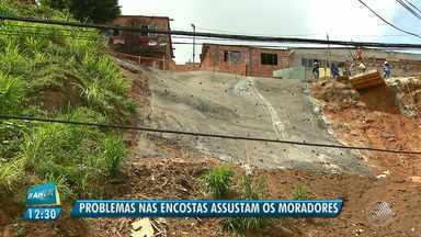 Perigo: moradores falam sobre o medo de viver perto de áreas com encostas em Salvador - A capital baiana tem 600 áreas de riscos, com diversas particularidades entre as áreas e bairros; veja na reportagem.