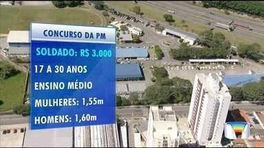 Estado abre concurso para contratar policiais - São 2,7 mil vagas.