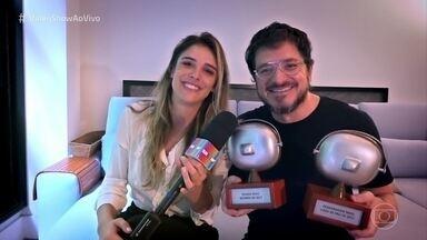 Guilherme Piva ganha dois prêmio pelo Licurgo de 'Novo Mundo' - Ator foi reconhecido como a risada mais bizarra e também como personagem mais cara de pau de 2017