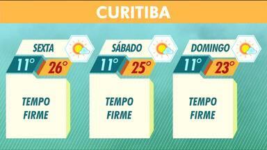 Tempo continua firme em Curitiba e litoral - As manhãs devem ser frias, mas durante a tarde o sol ajuda a aquecer.