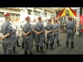 Solenidade marca início do Batalhão do Corpo de Bombeiros de Ipatinga - Com a mudança de companhia para batalhão, serviço terá aumento no efetivo de militares.