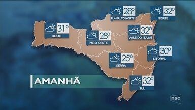 Veja como ficará o tempo em todas as regiões de SC nesta sexta-feira (20) - Veja como ficará o tempo em todas as regiões de SC nesta sexta-feira (20)