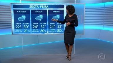 Veja como fica o tempo amanhã em todo o Brasil - Maria Júlia Coutinho mostra onde chove e as temperaturas.