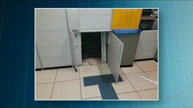Assaltantes tentam arrombar banco em São Jorge do Patrocínio - Ninguém foi preso. O banco está funcionando normalmente.