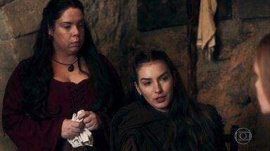 Selena teme que os demais reis da Cália não aceitem o plano de Afonso - Amália diz a Selena e Brumela que não confia no Rei Otávio