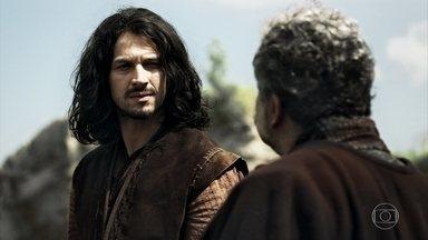 Afonso chega em Angór - O príncipe teme por seu futuro na pedreira