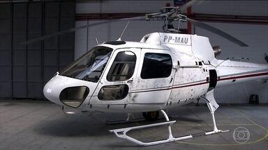 Helicóptero apreendido em SP tem vestígios de cocaína, diz polícia - A Polícia de São Paulo confirmou a presença de cocaína no helicóptero apreendido na quarta-feira (25) em Arujá, na Região Metropolitana. Três pilotos foram presos.
