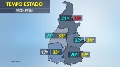 Veja como fica a previsão do tempo em todo o Tocantins nesta sexta-feira (27) - Veja como fica a previsão do tempo em todo o Tocantins nesta sexta-feira (27)