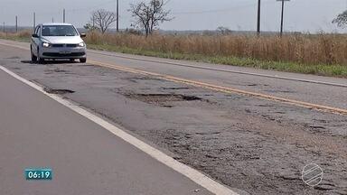 Veja como estão as condições de rodovias no leste de MS - Há trecho em boas condições. Porém, em outros, é preciso redobrar atenção por causa da péssima situação do asfalto.