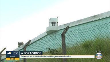 Seis presos fogem da da Penitenciária Nelson Hungria, em Contagem, na Grande BH - Um detento foi recapturado durante a madrugada.