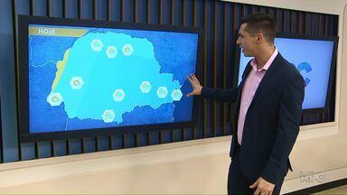 Possibilidade de pancadas de chuva no sábado (28) no Paraná - Temperatura continua alta em todo o estado.
