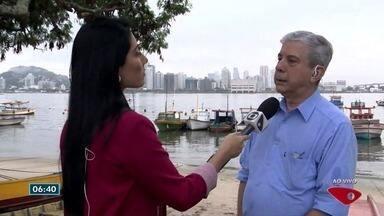 Balsas entre Vitória e Vila Velha começam a ser testadas - Ainda não dá data para início do funcionamento.
