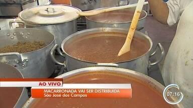 Festa do Dia do Trabalho vai distribuir duas toneladas de macarronada - Festa é nesta terça-feira (1º).