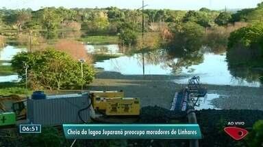 Lagoa Juparanã continua enchendo mesmo após construção de canal pela Renova - Moradores do entorno ficam preocupados.