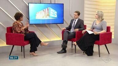 Presidente da Associação Brasileira de Recursos Humanos fala sobre trabalho no Bom dia ES - Kátia Vasconcelos falou sobre idosos no mercado, experiências e mudanças ao longo dos anos.