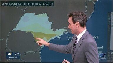 Pode garoar à noite na Grande São Paulo - Mês de maio deve registrar menos chuva que a média na Capital