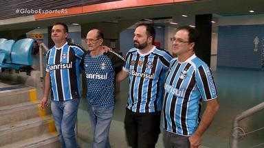 Irmãos de diferentes cidades se reúnem para levar pai a um jogo do Grêmio em Porto Alegre - Assista ao vídeo.
