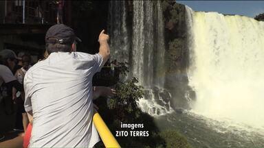 Quem passou o Dia do Trabalho nas Cataratas, aproveitou a paisagem - Nestes 4 dias de feriado prolongado, mais de 32 mil pessoas passaram pelo Parque Nacional do Iguaçu.