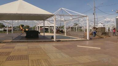 Preparativos para a Fespop já estão a todo o vapor em Santa Terezinha de Itaipu - Festa começa na semana que vem.