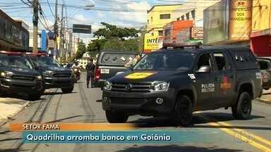 Banco é arrombado em tentativa de assalto em Goiânia - Moradores da região ficaram assustados com barulhos.