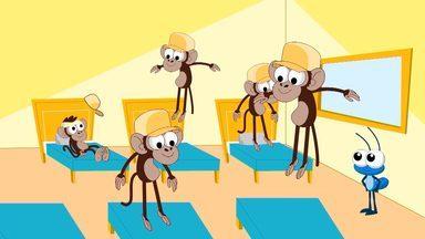 Os Macaquinhos - Bob Zoom é uma formiguinha azul divertida e charmosa, estrela de uma série de vídeos musicais.