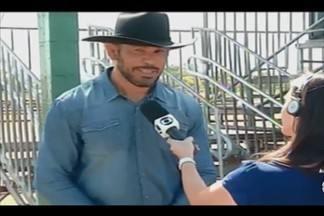Evento em reúne cavaleiros em Uberaba; Minotauro, ex-campeão do UFC, participa - 'Prova de Rédeas' ocorre dentro da programação da Expozebu.